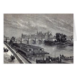 Modern Paris: The Pont Neuf, 1845 Card