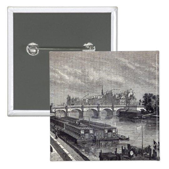 Modern Paris: The Pont Neuf, 1845 Pinback Button