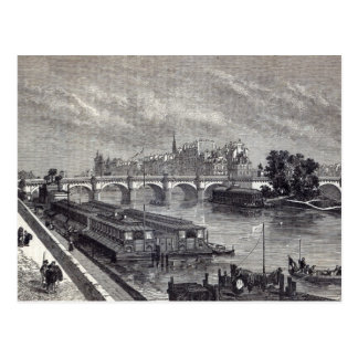 Modern Paris: The Pont Neuf, 1845 Postcard