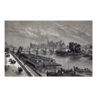 Modern Paris: The Pont Neuf, 1845 Poster
