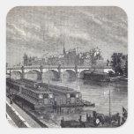 Modern Paris: The Pont Neuf, 1845 Square Sticker