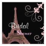Modern Paris Vintage Bridal Shower Invitation
