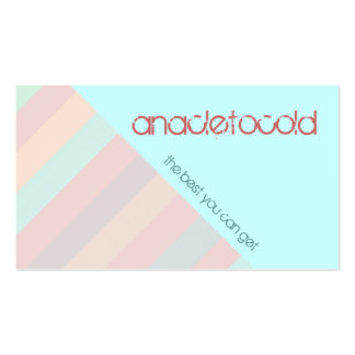modern pastel color striped business card templates