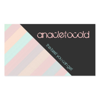 modern pastel color striped business card