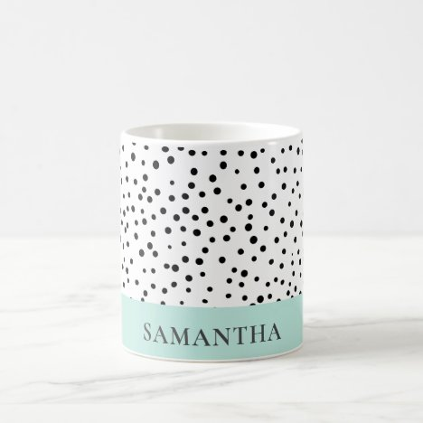Modern Pastel Mint Simple With Personalized Name Coffee Mug
