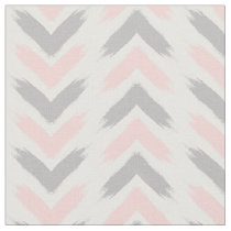 Modern pastel pink gray arrow brushstrokes pattern fabric