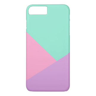 Modern pastel pink purple mint green color block iPhone 8 plus/7 plus case