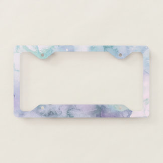 Modern pastel purple lavender watercolor wash license plate frame