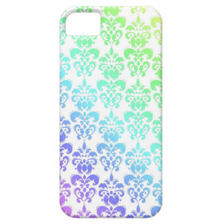 Modern pastel rainbow damask iPhone 5 cases