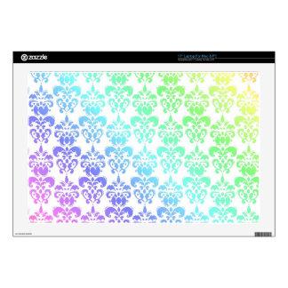 Modern pastel rainbow damask laptop skin