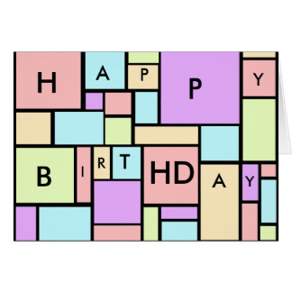 Modern Pastels Pattern Birthday Card