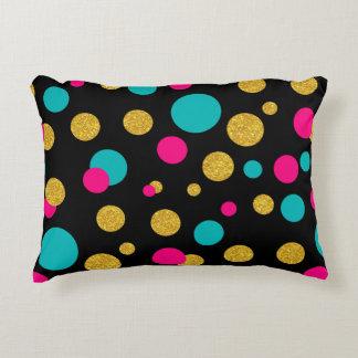 Modern Pattern Abstract Random Colorful Circles Decorative Pillow