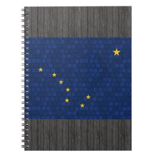 Modern Pattern Alaskan Flag Notebook
