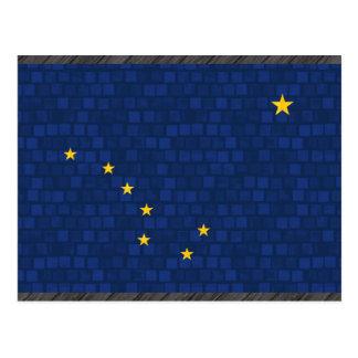 Modern Pattern Alaskan Flag Postcard
