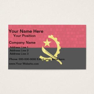 Modern Pattern Angolan Flag Business Card