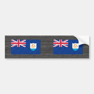 Modern Pattern Anguillan Flag Bumper Stickers