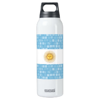 Modern Pattern Argentinean Flag 16 Oz Insulated SIGG Thermos Water Bottle
