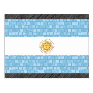 Modern Pattern Argentinean Flag Postcard