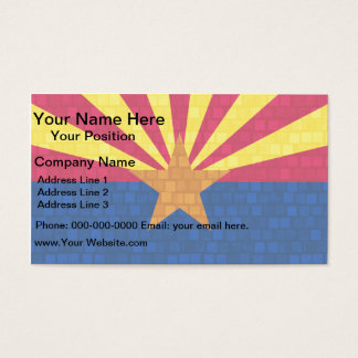 Modern Pattern Arizonan Flag Business Card