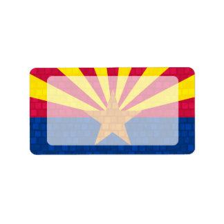 Modern Pattern Arizonan Flag Personalized Address Labels