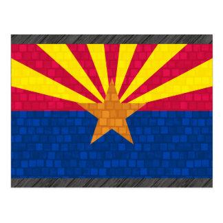 Modern Pattern Arizonan Flag Postcard