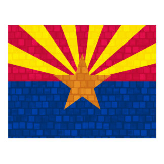 Modern Pattern Arizonan Flag Postcard