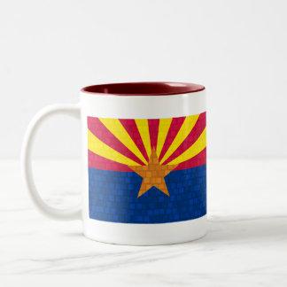 Modern Pattern Arizonan Flag Two-Tone Coffee Mug