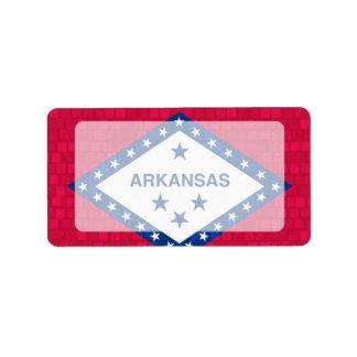 Modern Pattern Arkansan Flag Label