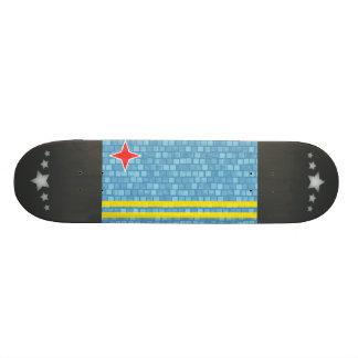 Modern Pattern Aruban Flag Skateboard Deck