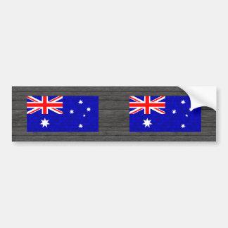 Modern Pattern Australian Flag Bumper Stickers