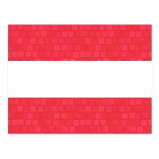 Modern Pattern Austrian Flag Postcard