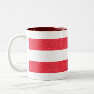 Modern Pattern Austrian Flag Two-Tone Coffee Mug