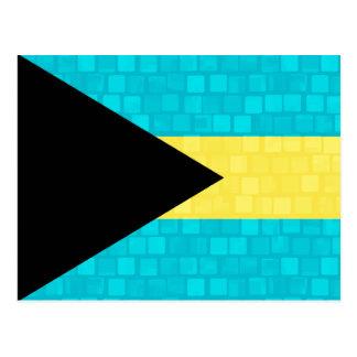 Modern Pattern Bahamian Flag Postcard