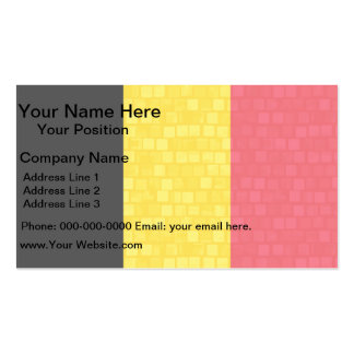 Modern Pattern Belgian Flag Business Card