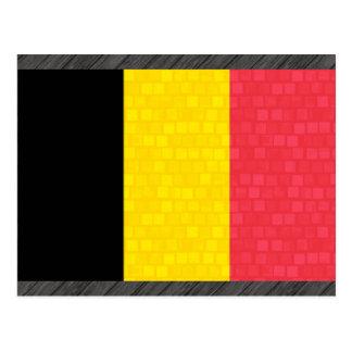 Modern Pattern Belgian Flag Postcard
