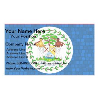Modern Pattern Belizean Flag Business Card Templates