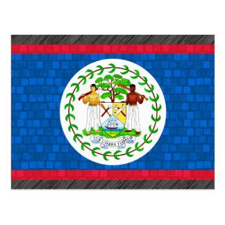 Modern Pattern Belizean Flag Postcard