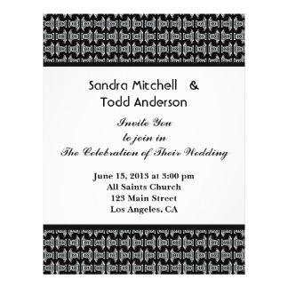 Modern Pattern Black and White Wedding Flyer