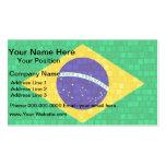 Modern Pattern Brazilian Flag Business Card