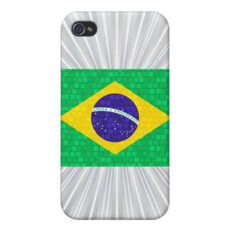 Modern Pattern Brazilian Flag iPhone 4 Covers
