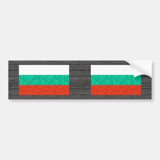 Modern Pattern Bulgarian Flag Car Bumper Sticker