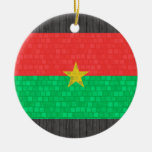 Modern Pattern Burkinabe Flag Christmas Ornament