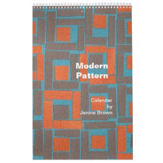 modern pattern calendar
