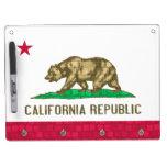Modern Pattern Californian Flag Dry Erase Board With Keychain Holder
