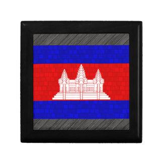 Modern Pattern Cambodian Flag Gift Box