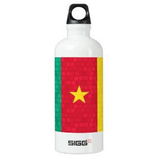 Modern Pattern Cameroonian Flag Aluminum Water Bottle
