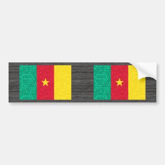 Modern Pattern Cameroonian Flag Bumper Sticker