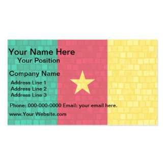 Modern Pattern Cameroonian Flag Double-Sided Standard Business Cards (Pack Of 100)