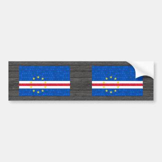 Modern Pattern Cape Verdian Flag Bumper Stickers
