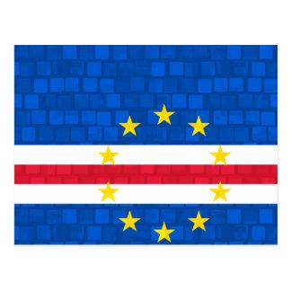 Modern Pattern Cape Verdian Flag Postcard